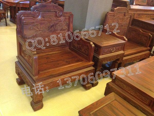 老挝大红酸枝沙发 百子