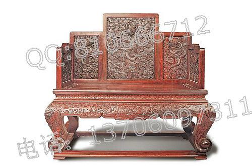 老挝大红酸枝宝座