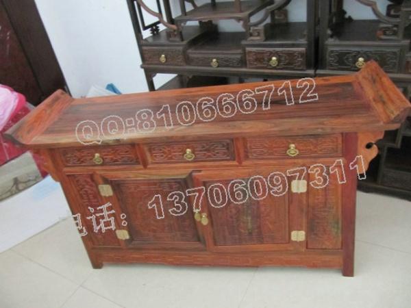 老挝大红酸枝三联橱柜