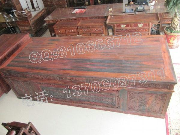 老挝大红酸枝办公桌 3米1