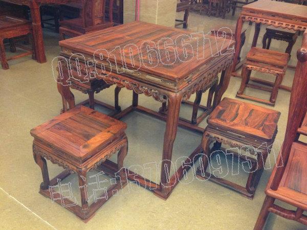 红木家具价格_老挝大红酸枝四方桌,交趾黄檀四方桌,老