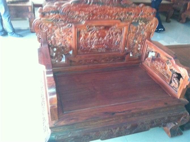 老挝大红酸枝沙发,交趾黄檀沙发,老挝大红酸枝飞天沙发