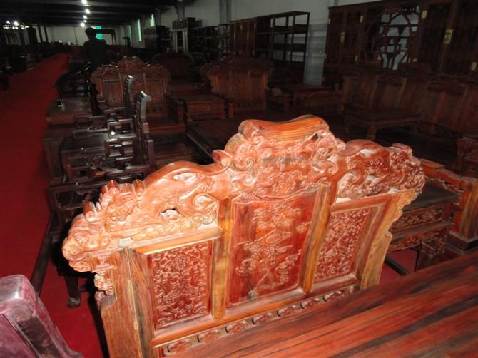 狮子头沙发,老挝大红酸枝狮头沙发,交趾黄檀沙发