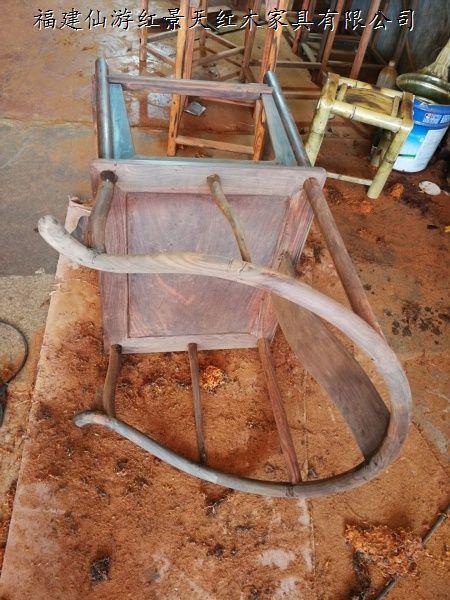 老挝大红酸枝圈椅