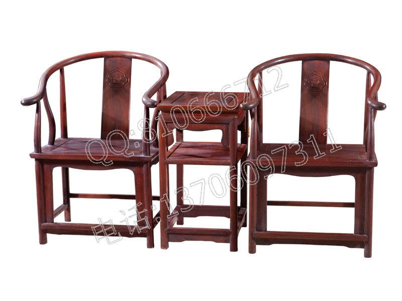 大红酸枝圈椅