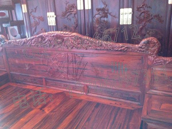 老挝大红酸枝高低床