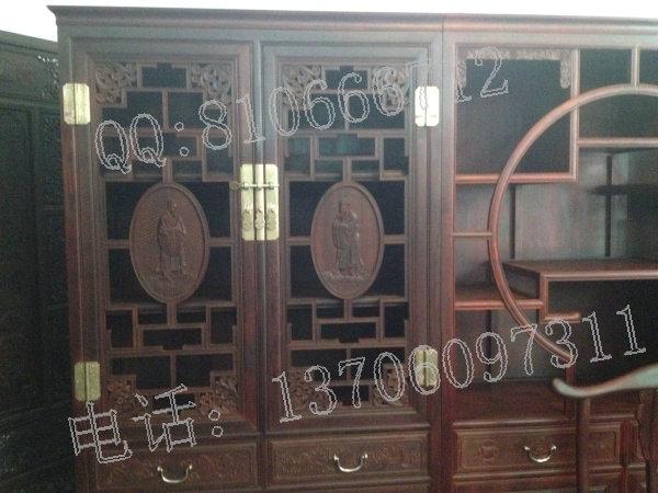仙游红景天红木家具厂生产小叶紫檀书柜