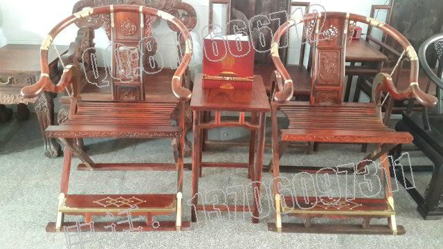 老挝大红酸枝交叉椅