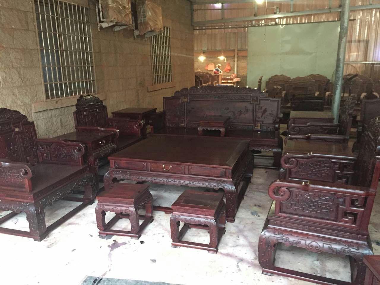 红景天红木家具厂 赞比亚血檀沙发来源于:福建仙游红