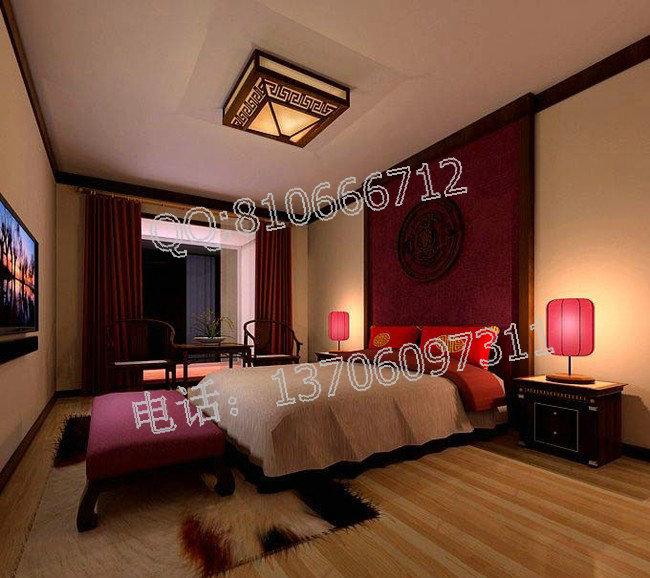 中式酒店卧室设计
