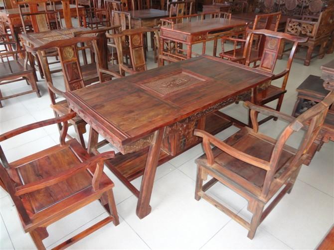 老挝大红酸枝茶桌