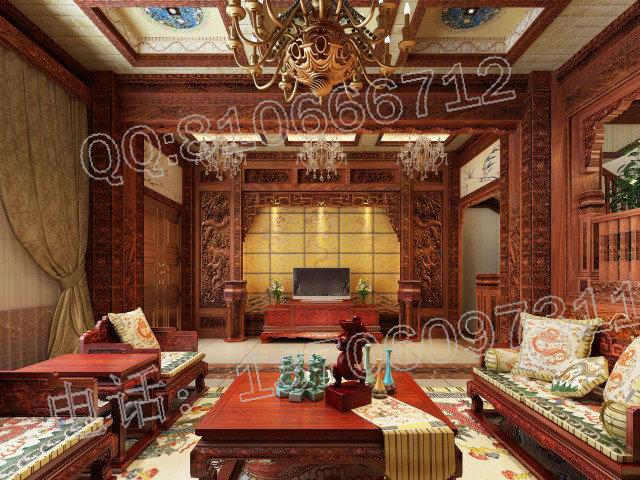 客厅红木装修效果图