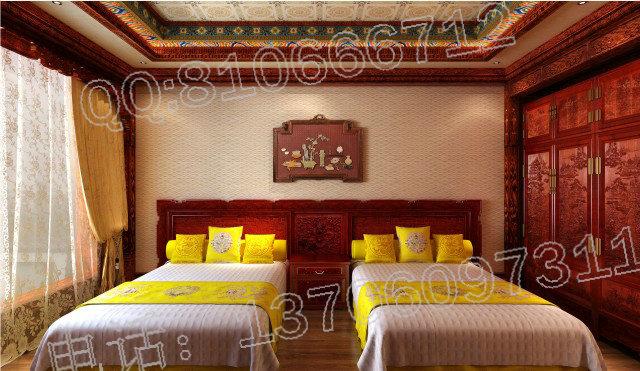 卧室红木装修效果图,卧室红木装修效果图价格 图片