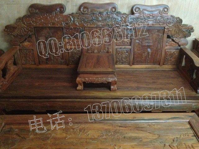 老挝大红酸枝家具,此套 老挝大红酸枝沙发没有一点没补,根据故宫提供