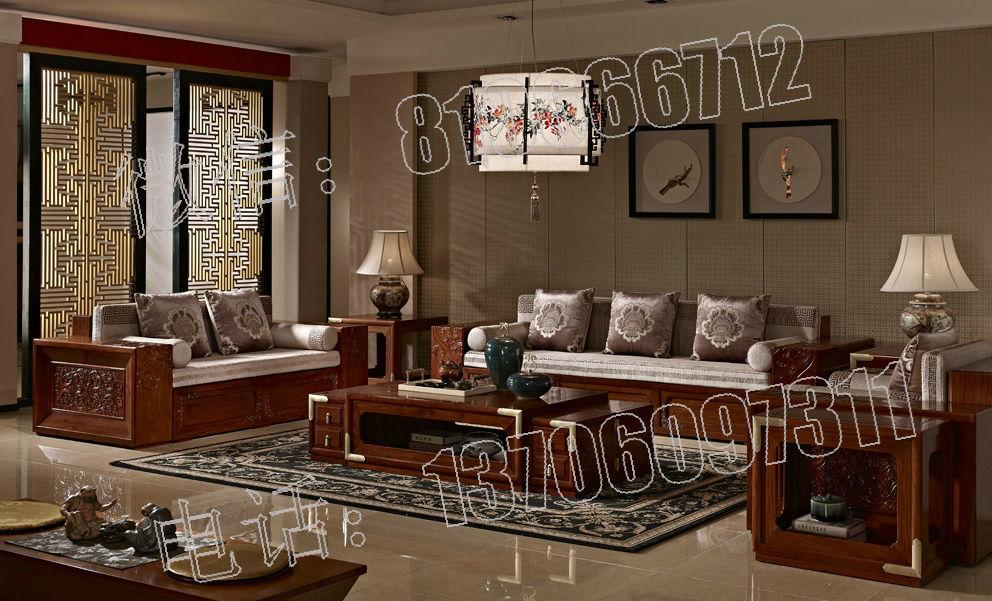 新中式红木家具图片 新中式家具以沉韵的古色古香