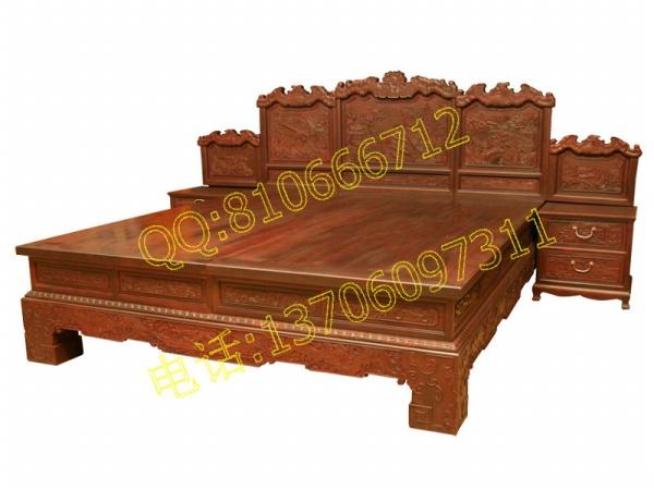红酸枝富贵大床
