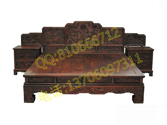 :网站首页>>卧室红木家具>>富贵大床