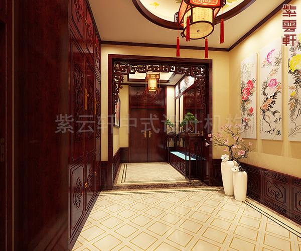 北京别墅古典中式装修图,东来暖阁生炉 夏至荷塘烹茶