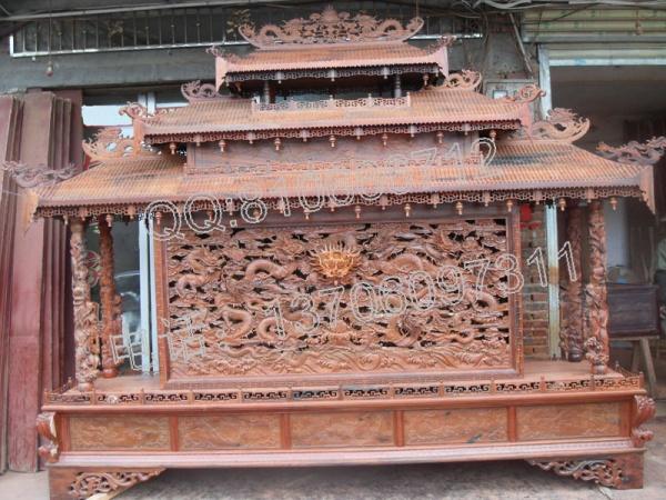 老挝大红酸枝屏风