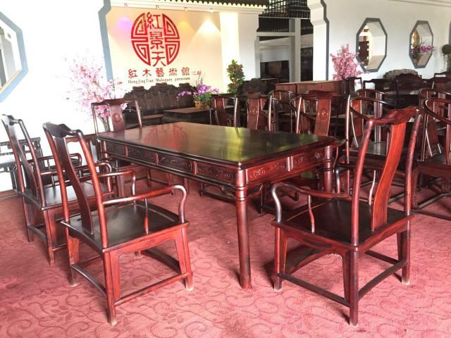 老挝大红酸枝长方桌