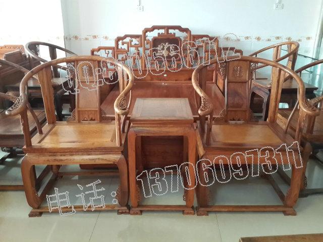 (越南黃花梨家具圖片由:福建仙游紅景天紅木家具