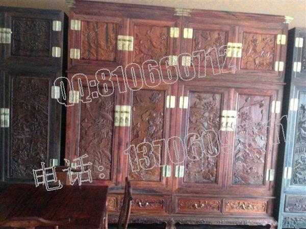 大红酸枝衣柜图片